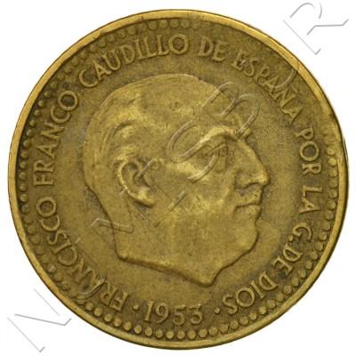 1 peseta SPAIN 1963 - Franco *64*