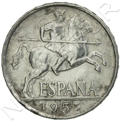 10 cents SPAIN 1953 - Jinete Ibérico