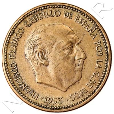 2.5 pesetas SPAIN 1953 - Franco *56*