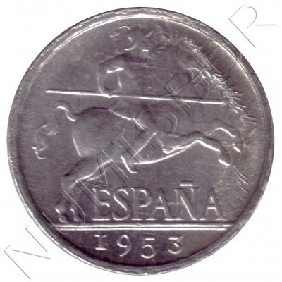 5 cents SPAIN 1953 - Jinete Ibérico
