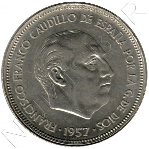 25 pesetas SPAIN 1957 - FRANCO *19* *58*
