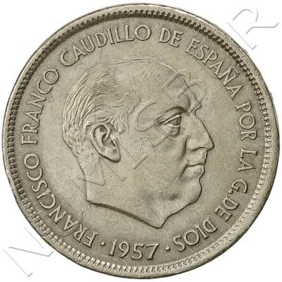 25 pesetas SPAIN 1957 -  *68* UNC