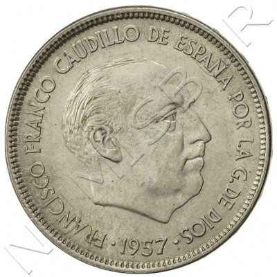 25 pesetas SPAIN 1957 -  *64* UNC