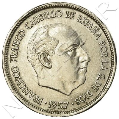 25 pesetas SPAIN 1957 -  *69* UNC