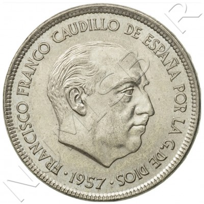 25 pesetas SPAIN 1957 -  *75* UNC