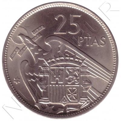 25 pesetas SPAIN 1957 - FRANCO *19* *71*