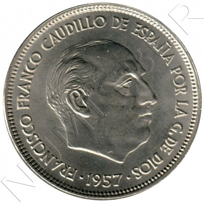 25 pesetas SPAIN 1957 - FRANCO *19* *59*