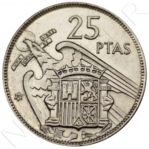 25 pesetas SPAIN 1957 -  *59* UNC