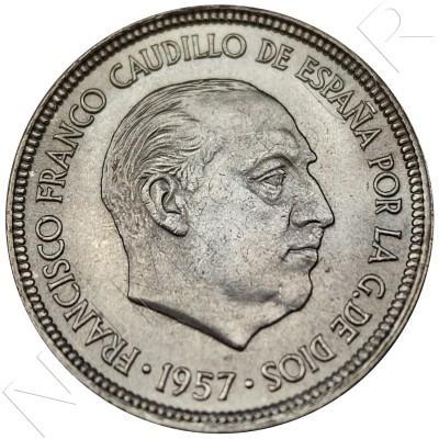 5 pesetas SPAIN 1957 -  *59* UNC