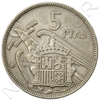 5 pesetas SPAIN 1957 -  *62* UNC