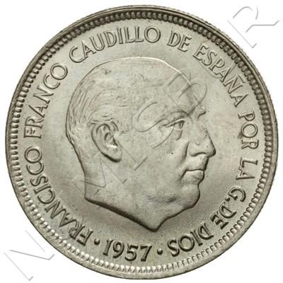 5 pesetas SPAIN 1957 -  *71* UNC