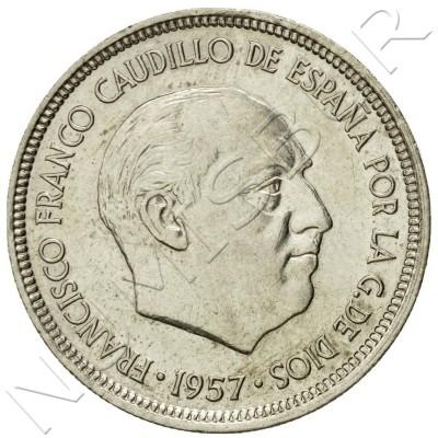 5 pesetas SPAIN 1957 -  *74* UNC