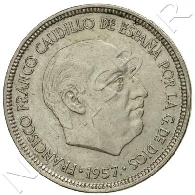 5 pesetas SPAIN 1957 -  *75* UNC