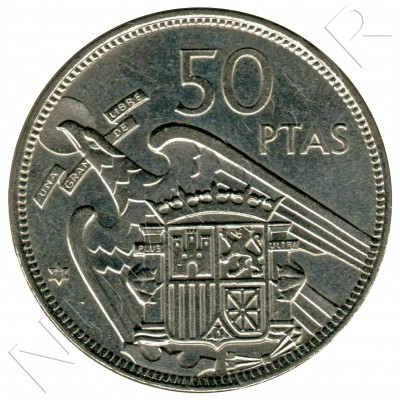 50 pesetas SPAIN 1957 - FRANCO *19* *71*