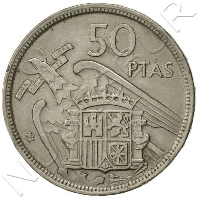 25 pesetas SPAIN 1957 -  *58* UNC