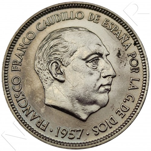 50 pesetas SPAIN 1957 -  *71* PROOF