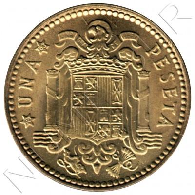 1 peseta SPAIN 1963 - FRANCO *19* *63*
