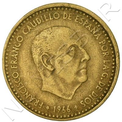 1 peseta SPAIN 1966 - Franco *67*