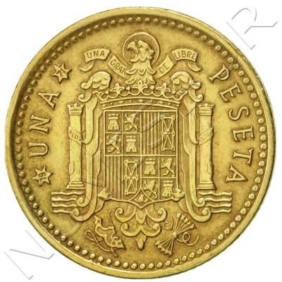 1 peseta SPAIN 1966 - Franco *71*
