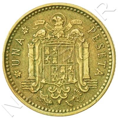1 peseta SPAIN 1966 - Franco *72*