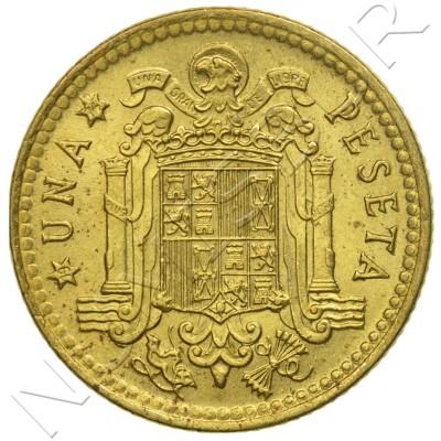 1 peseta SPAIN 1966 - Franco *74*
