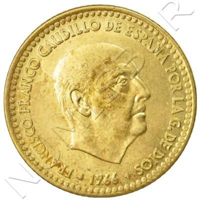 1 peseta SPAIN 1966 - Franco *75*