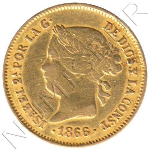 1 peso ISLAS FILIPINAS 1866 - Isabel II