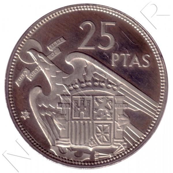 25 pesetas SPAIN 1957 - FRANCO *19* *73*