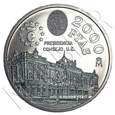 2000 pesetas SPAIN 1995 - EU Council Presidency