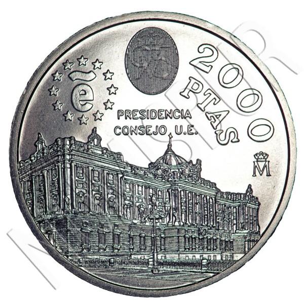 2000 pesetas ESPAÑA 1995 - Presidencia consejo EU