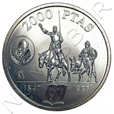 2000 pesetas SPAIN 1997 - Don Quixote