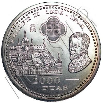 2000 pesetas SPAIN 1998 - Escorial