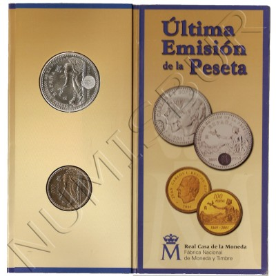 2000 pesetas SPAIN 2001 - Last issue of the Peseta
