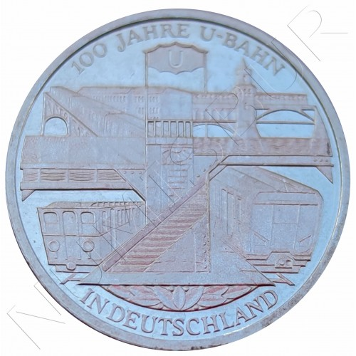 "10€ GERMANY 2002 - German Subways Anniversary ""D"""