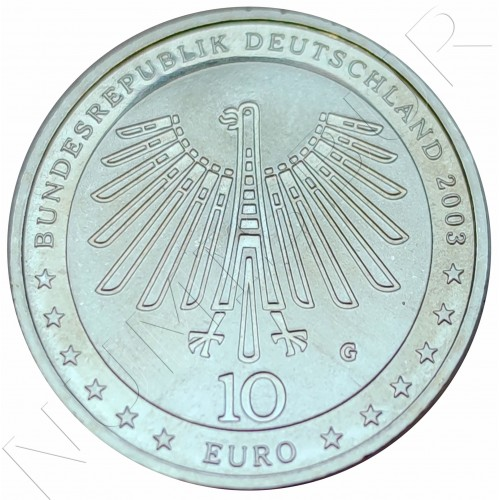 "10€ GERMANY 2003 - Gottfried Semper ""G"""