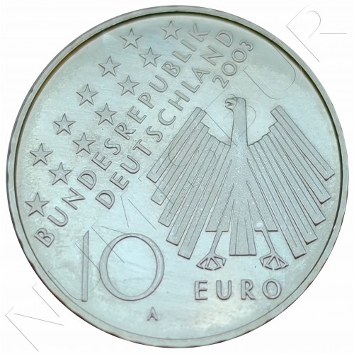 "10€ GERMANY 2003 - Uprising in East Germany 1953 ""A"""
