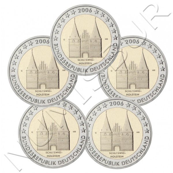 2€ ALEMANIA 2006 - Schleswig-Holstein (A D F G J)