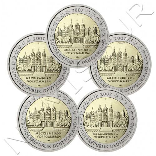 2€ ALEMANIA 2007 - Mecklemburgo-Antepomerania (A D F G J)