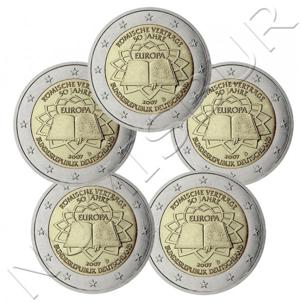 2€ GERMANY 2007 - Trate of Rome (A D F G J)