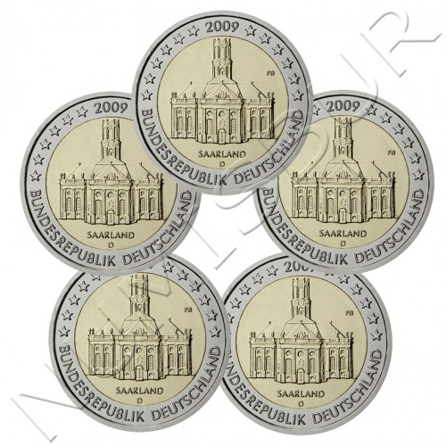 2€ ALEMANIA 2009 - Saarland ( A D F G J )
