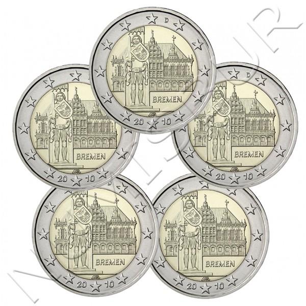 2€ ALEMANIA 2010 - Bremen ( A D F G J )