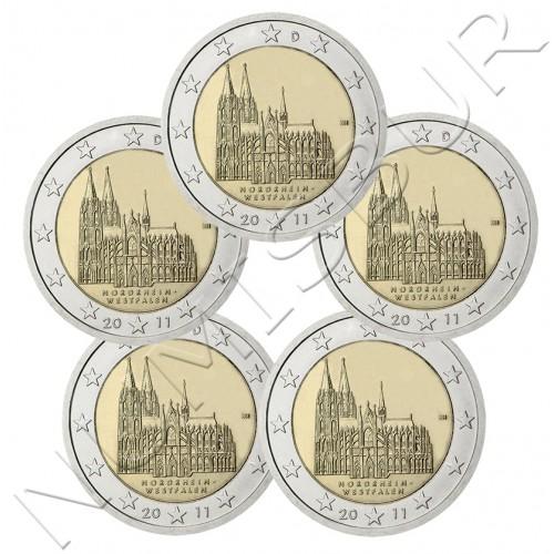 2€ ALEMANIA 2011 - Nordrhein-Westfalen ( A D F G J )