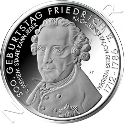 10€ ALEMANIA 2012 - 300 cumpleaños de Friedrich II