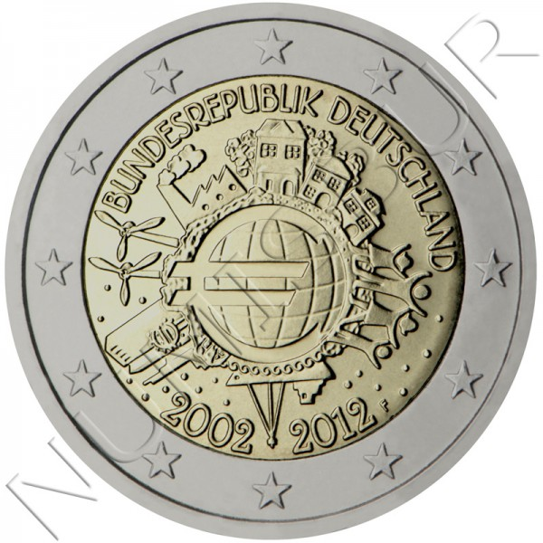 2€ ALEMANIA 2012 - 10º aniv. EURO