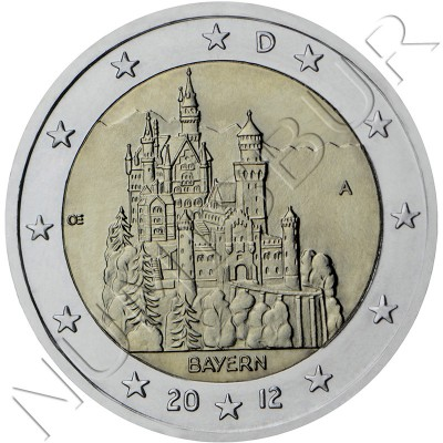 2€ ALEMANIA 2012 - Castillo Bayern