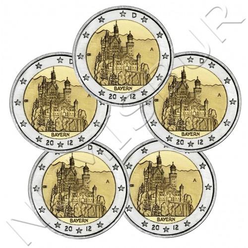 2€ ALEMANIA 2012 - Castillo Bayern ( A D G F J )