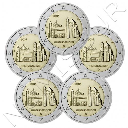 2€ ALEMANIA 2014 - NIEDERSACHSEN (A D G F J)