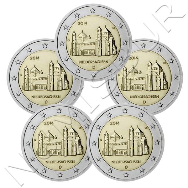 2€ GERMANY 2014 - NIEDERSACHSEN (A D G F J)