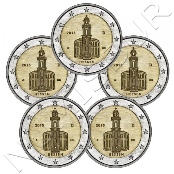 2€ ALEMANIA 2015 - Hessen (A D F G J)