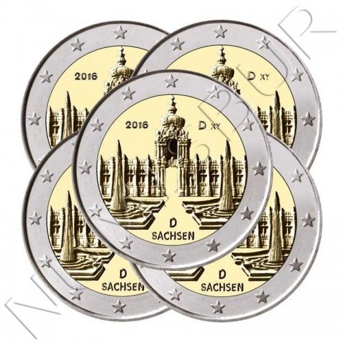 2€ ALEMANIA 2016 - Sachsen (ADGJF)
